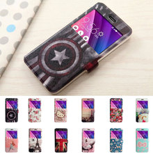 "PU Leather For OnePlus 3 OnePlus 3T Case Phone cover Colorful Paint Ultrathin view window Flip TPU Stand For 5.5"" One Plus 3/3T"