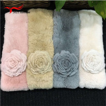 Top Quality Lady Real Rex Rabbit fur scarf Women Winter Neck Warm shawl Retail / Wholesale L#76