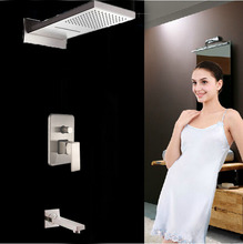 Wall Mounted Brushed Nickle Shower Faucet Bathroom Shower Set With Hand Shower Taps