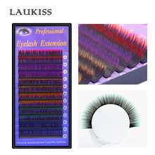 12Lines/Box Hair Color Permanent Eyelashes Rainbow Eyelash Coloring Kit  Eyelashes Extension Makeup Beauty Tools LAUKISS