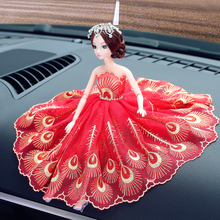 head Arts Crafts Barbie doll car car decoration decoration lady creative personality lovely doll interior fashion skirt art gif(China)