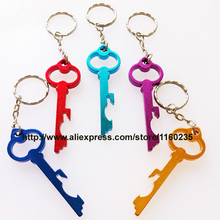 free customized engraved logo bottle opener keychains,key shaped aluminum beer wine can opener keychain,free shipping
