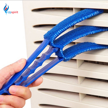 2016 New Cleaning 3-blades Window Blinds Brushes Air Conditioning Cleaner Shutter Home Tool Multifunctional Dust Cleaning Brush(China)
