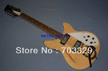 new natural wood Ricken Backer guitar free shipping with bigsby R tremolo 12 strings hollowed body one piece neck mini pickup