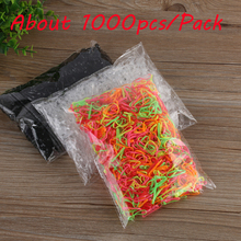 1000Pcs/pack Rubber Rope Ponytail Hair Elastic Holders Rubber Band Ties Braids Plaits headband hair clips Hair Accessories