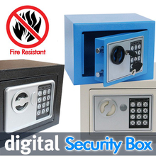 Digital safe box is Fire Drill Resistant Ideal for Home Office use! Safety Security Box keep Cash Jewelry or Documents Securely