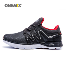 ONEMIX Men's Sport Shoes 2017 Men's Basketball Leather Upper Sneakers Lace Up Fitness Breathable Running Shoe For Men Runer