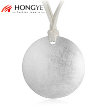Brighton Trendy Brushed Element Silver Alloy Double Layer White Rope Big Bib Round Necklace Pendant Classic Women Unisex Jewelry(China)