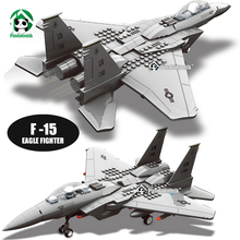 Wange F-15 Eagle Fighter Plane Building Blocks Kit Military Army Set Models & Building Toys for Children Bricks Compatible lepin