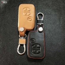 For the Toyota Camry leather car remote control car key chain cover 3 button smart key dust collector starline a91 starline a93