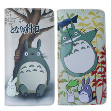 19*9*3cm Fashion Japanese Hayao Miyazaki Animated Cartoon Totoro Women Purse Long PU Leather Zipper Wallet for 5 inch Cell Phone