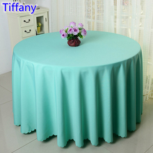 Tiffany colour wedding table cover table cloth polyester table linen hotel banquet party round tables decoration wholesale