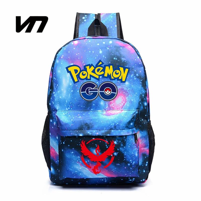 VN Hot Game Pokemon Go Backpack Gengar Backpacks Luminous Printing School Bags Shoulders Bag For Teenager Girls Mochila Feminina<br><br>Aliexpress