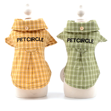 Grid T-shirt For Dog Princess Blue Lace Cotton Small Puppies Animals Pets Polo Clothes For Cats Chihuahua Poodle Dachshund Pugs
