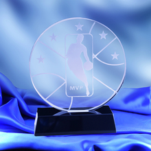 Trophy-National Basketball-Games Champion Awards-Cup Crystal Glass MVP CTGF0091 Best-Player