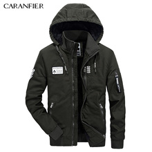 CARANFIER Winter Men Jacket Cotton Coat Tactical Military Style Warm Fashion Outerwear Two Different Wearing Way Casual Coats(China)