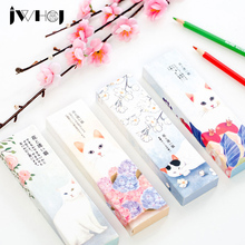 30 pcs/box Cute flower cat cartoon paper bookmarks kawaii children stationery office school supplie papelaria kids gifts(China)