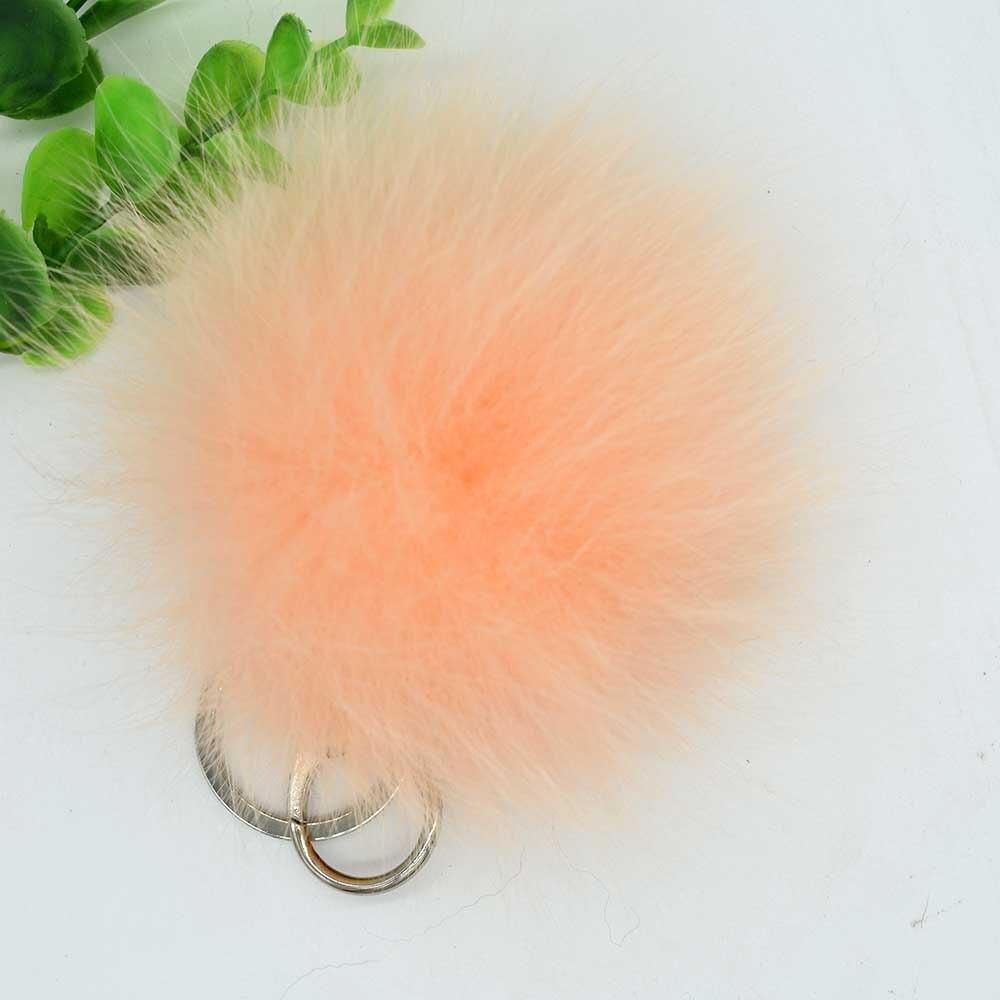 small fox fur pompom 13