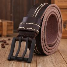 2017 brand new stylish mens belts women genuine leather belt men high quality waist strap yellow waistband size 110cm s0628