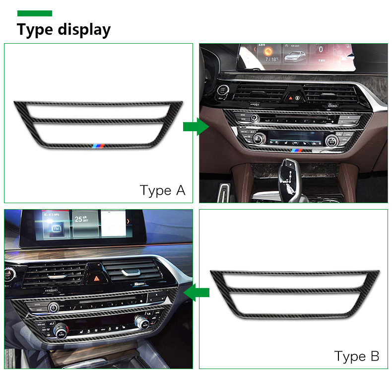BMW 5 Series G30 528i 530i 540i Carbon Fiber Car Central Console Decorative Frame Interior Accessories Car Styling (2)