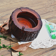 Retro Natural Wooden Ashtray Fireproofing Pure Wood Bark Original Ecology for Club Hotel Restaurant Creative Decor Smoking Acces(China)