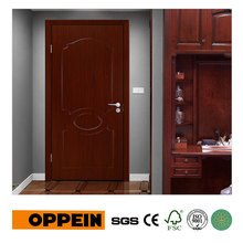 OPPEIN Modern Dark Wood Grain Project PVC Hinged Door Interior Door P603(China)