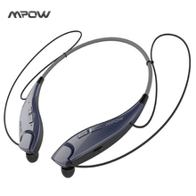 Mpow Jaws Wireless Bluetooth 4.1 Stereo Headset Universal Headphone Flexible & Light Neckband Design Earphone Hands-free Calling