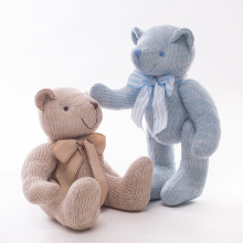 1pc 28cm Lovely Bowknot Knitting Little Teddy Bear Plush Toys Dolls Stuffed Soft Kids Baby Bear Toys Christmas Gift for Children