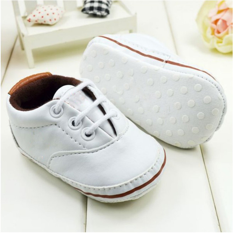 Unisex Baby Soft Sole Pram Crib Shoes Toddler PreWalker Leather Sneakers 0-18M<br><br>Aliexpress