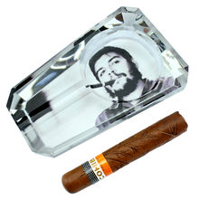Revolution Che Guevara Souvenir Collectibles Creative Smoking Gift Special Dedicated Crystal Cigar Ashtray With 1 Rest Gift Box(China)