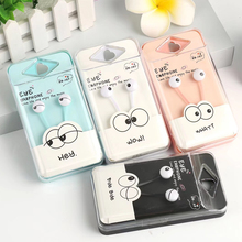 Cute Eyes Pure Colour Candy Color Simple Smart 3.5mm In-Ear Stereo Earphone Kawaii Earbud For iPhone Samsung Xiaomi MP3 player