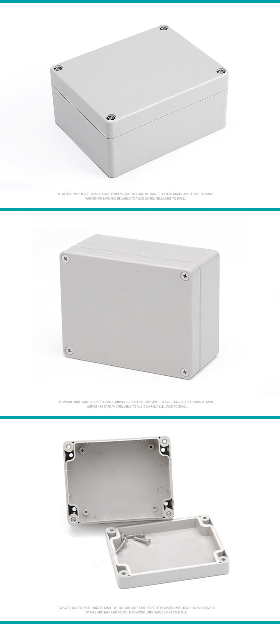 115mmx90mmx55mm uxcell 4.53x3.54x2.17 ABS Junction Box Universal Project Enclosure Gray a18013000ux0092