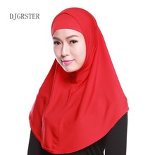 DJGRSTER high quality women muslim chiffon scarf islamic georgette scarfs shawls headwear long wraps solid plain cotton hijabs(China)