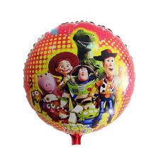 Discount 18 inch cartoon balloons Toy store foil balloon Brithday balloon wholesales 50pcs/lots(China)