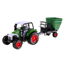 1:32 Engineering Alloy Farmer Wheat Bucket Vehicle Model Car Truck for Kids with Pull Back Lighting Music Kids Children Toy Gift