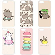 Fashion Design Phone Case Shell Cover For Samsung Galaxy A3 A5 A7 A8 A9 J1 J2 J3 J5 J7 2015 2016 2017 Funny Pusheen The Cat Gifs