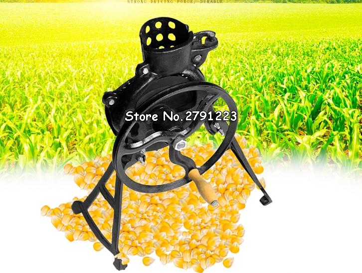 Corn Sheller Manual Hand Corn Thresher 2 in 1 Hand Crank Adjustable Iron Casting