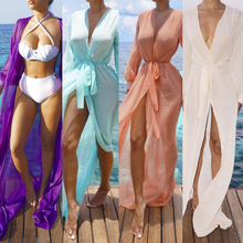 2017 Sexy Beach Cover Up Swimsuit Robe De Plage Cover Up Beach Bikini Wear Cardigan Swimwear Bathing Suit 4 Color Cover Ups