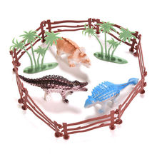 Cute Dinosaur Action Figures Play Collecters hollow plastic toy animals rex dinosaur model boy children gift 13 pcs/set