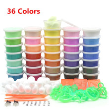 36colors DIY Soft Polymer Modelling Clay set with tools Air-dried Playdough FIMO Effect Blocks Special Toys Gift for Children