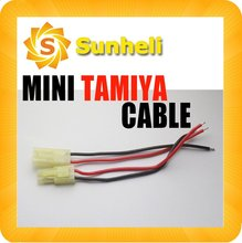 200pairs wholesale  Mini Micro 10cm Tamiya cable tiny green battery connector plug wire  wiring For RC Car copter WHOLESALE