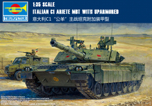 TRUMPETER 00394  1/35 Scale   ITALIAN C1 ARIETE MBT WITH UPARMORED  Plastic Model Building Kit