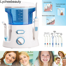 New 600ml Oral Irrigator Dental Teeth Water Flosser Flossing Set Tooth Cleaner Water Pick Machine With 7 Jet Tips EU US UK Plug