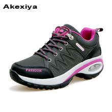 Akexiya New Summer Lightweight Walking Sneakers Grey Purple Jogging Sneakers Ladies Spring Running thick bottom of the shoes(China)