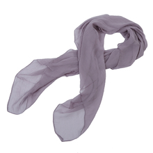 Fashion NEW Gray Trendy Summer Care Solid Color Scarf Shawl For Women(China)