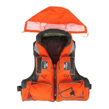 Outdoor Adult Life Vest Fishing Polyester Adult Safety Life Jacket Survival Vest Swimming Boating Drifting Ski Vest With Hat