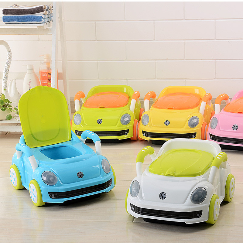 2017 Brand Cute Beetle Car Style Baby Potty Trainer Plastic Kids Toilet Travel Potty Chair Free Shipping Urinary Potty Boy Girl08
