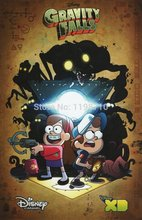 "Gravity Falls - LA Film FestArt poster print 20X30 ""Canvas Print Free Shipping(China)"