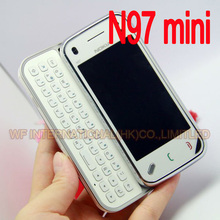 100% Original Nokia N97 Mini Mobile Phone Unlocked 3G WIfi GPS 8GB storage Symbian Smartphone White & one year warranty