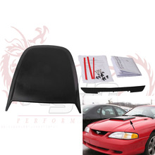 Kylin -- Universal Black Car Stickers Car Hood Scoop Vent Bonnet Cover Auto Air Flow Intake For Ford Mustang 2005-2009 GT V8